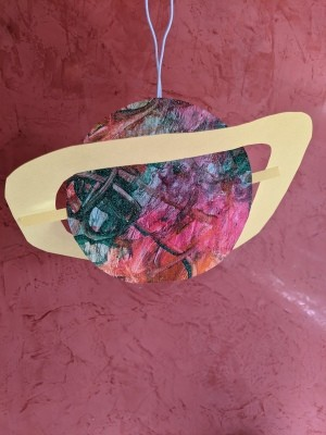 Saturn Hanging Decoration - finished