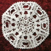Fancy Paper Snowflake - closeup of finished snowflake