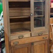 Value of an Antique Pie Cupboard?  - cupboard with a missing door