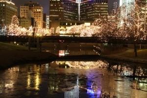 A Christmas scene in Omaha, Nebraska.