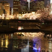 A Christmas scene in Omaha, Nebraska.