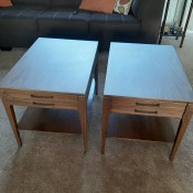 Two Mersman end tables.