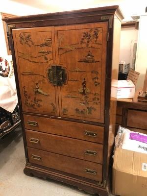 A decorative dresser.