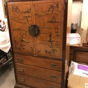 A decorative dresser.