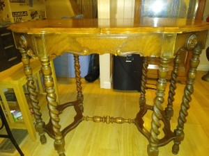 Age and Value of a Mersman Library Table? - nice table with 8 spiral legs