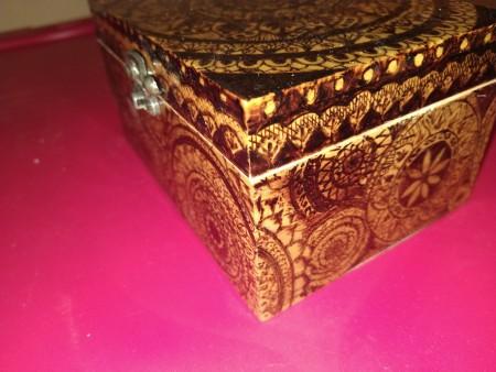 Woodburned Mandala Box