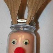 Reindeer Candle - finished candle