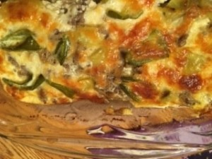 The completed chili relleno bake.