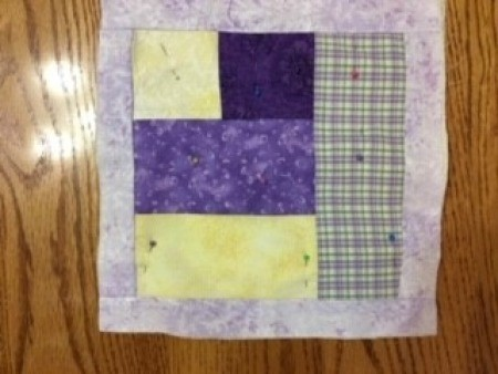 Quilted Hot Pad - quilt square