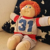 A red haired blue eyed Cabbage Patch doll.
