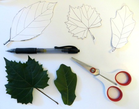 Candle Ring - trace leaves onto cardstock and cut out
