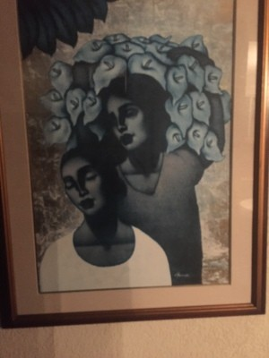 A painting of two women.