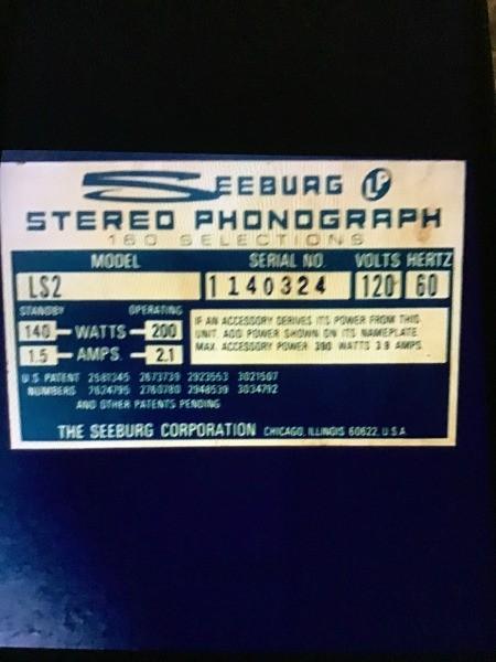 Value of 1969 Seeburg?