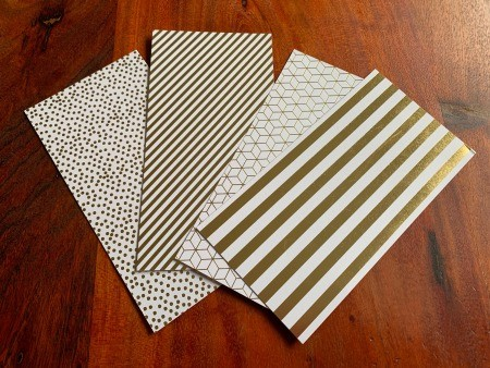 Small pieces of decorative cardstock.