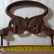 A decorative cast iron handle.