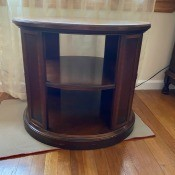 A side table with shelves.