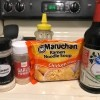 Ingredients for ramen stir fry.