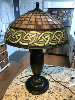 Value of Quoizel Table Lamp? - earth tone stained glass lamp