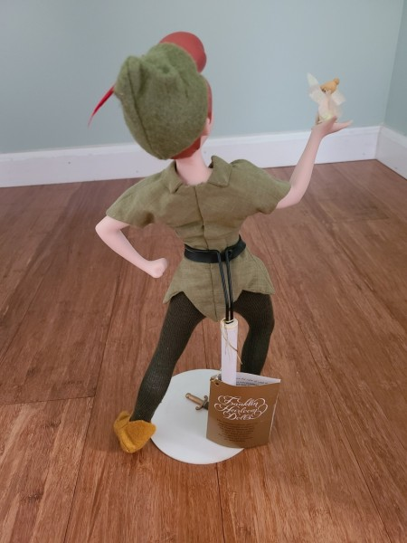 Back of Peter Pan doll.