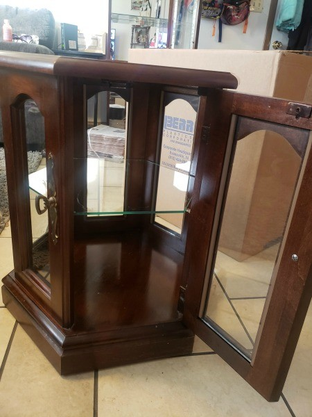 Value of a Mersman Waldron Table?  - glass sided table with door and glass shelf