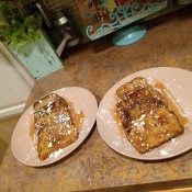 Two plates of French toast.