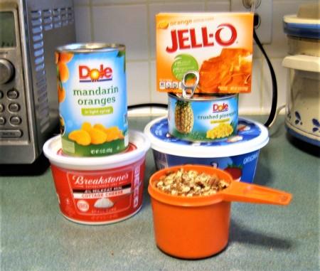 Ingredients for Orange Pineapple Fluff