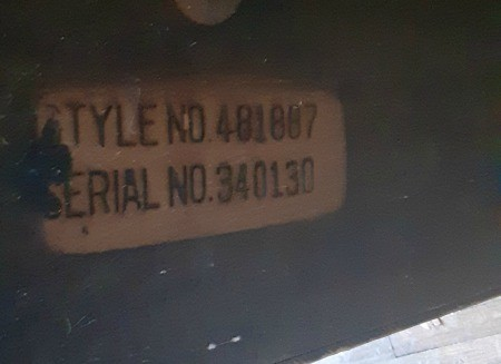 Markings on a hope chest.