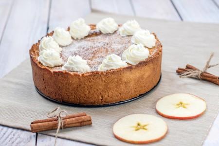 A Dutch apple cake before cutting.