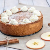 A Dutch apple cake before cutting.