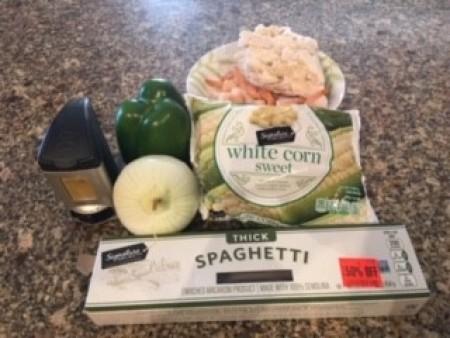Ingredients for Spaghetti Chicken