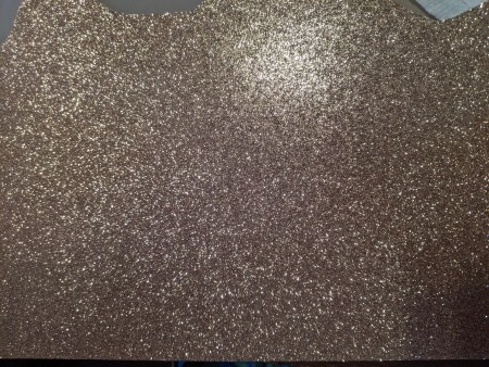 A piece of glittery paper.