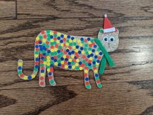 A colorful cheetah gift tag.