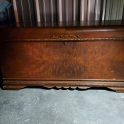 An old cedar chest.
