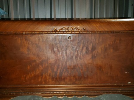 The front of a cedar chest.