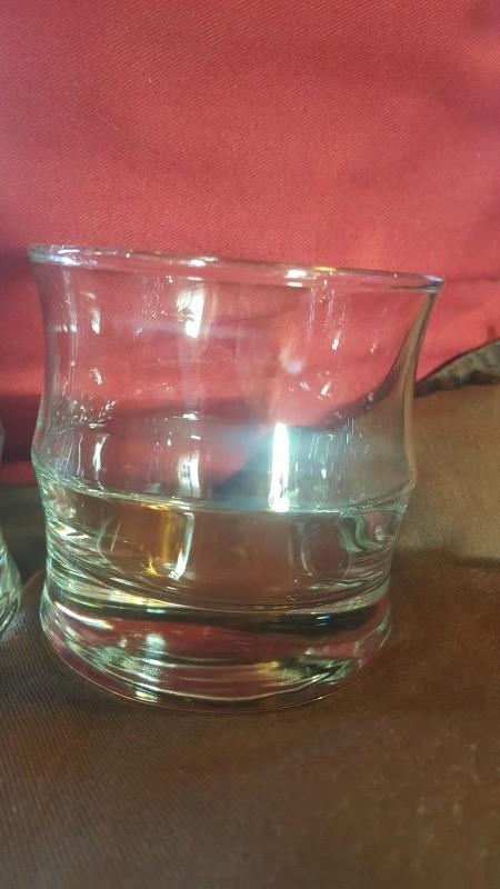 A short bamboo drinking glass.