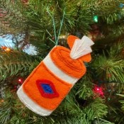 Felt Clorox Wipes Ornament - felt wipes cylinder ornament
