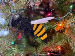 Felt Killer Hornet Ornament