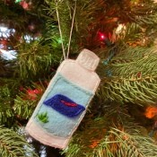 Felt Hand Sanitizer Ornament - bottle of hand sanitizer ornament