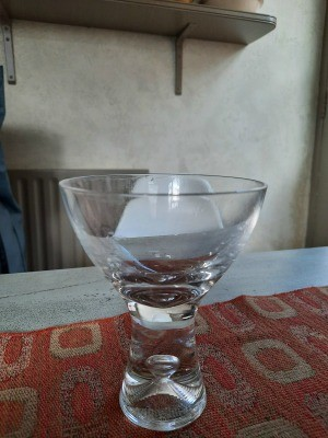 A small decorative glass.