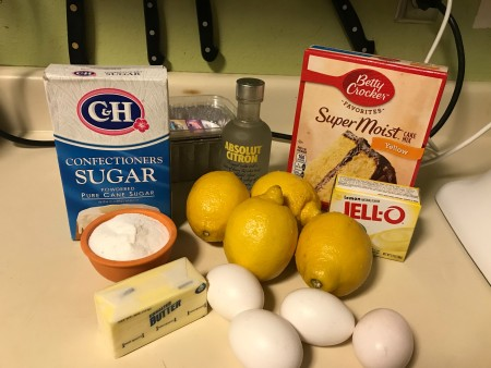 ingredients for Limoncello Loaf