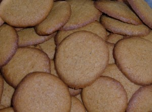 A collection of ginger snaps.