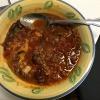 A bowl of bean chili.
