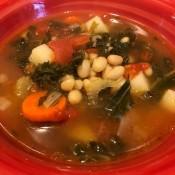 Kale in a soup.