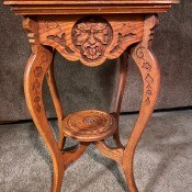 Identifying an Old Table? - four legged carved table