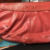 Removing an Ink Stain on a Vinyl Purse? - Coach purse with stains