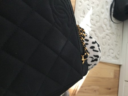 Removing a Spot on a Chanel Satin Purse?