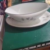 A china serving bowl.