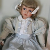 An old porcelain doll.