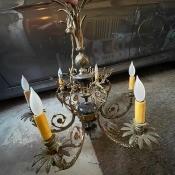 A decorative chandelier.