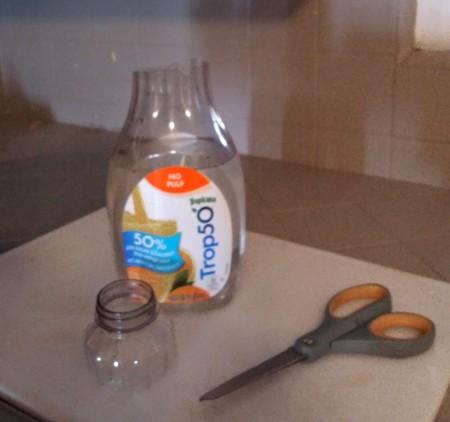 Orange Juice Bottle Vase